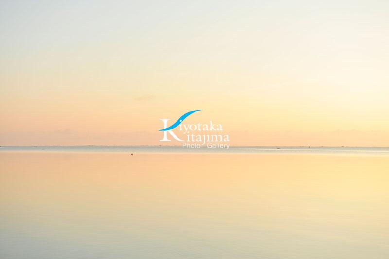 そして気持ちいい朝の海_石垣島