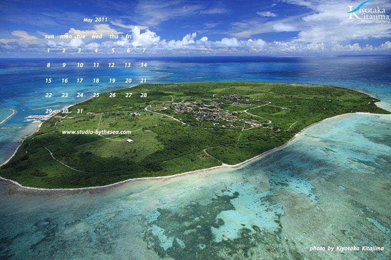 5月壁紙 manta island