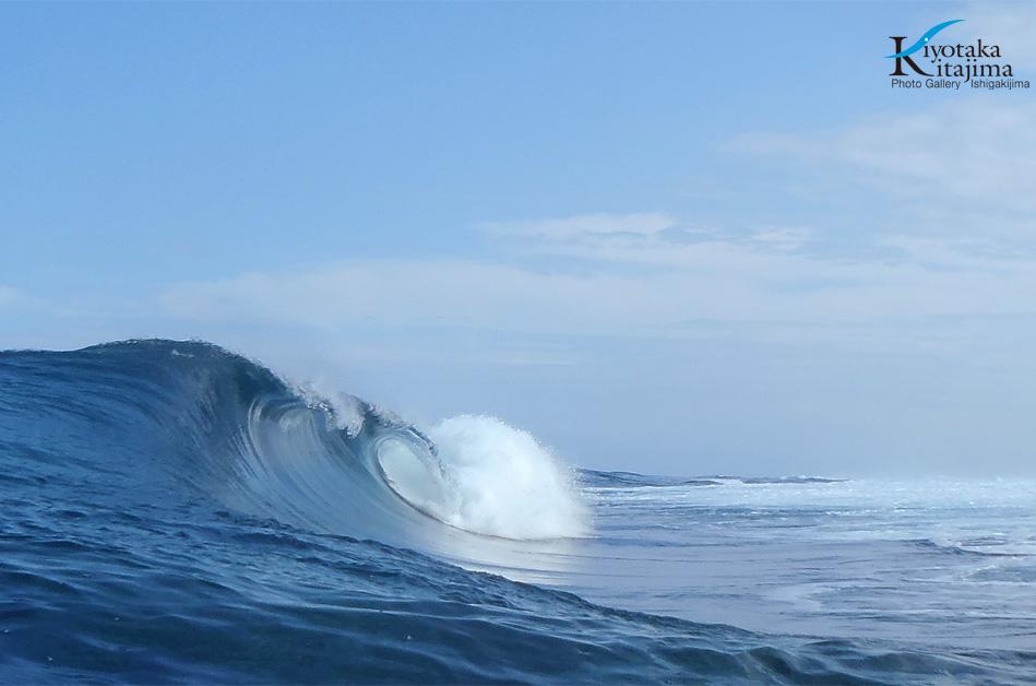 海 写真 昨日の波