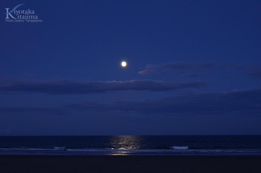 海 写真 Blue Moon