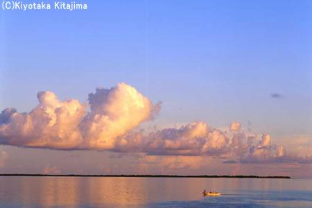 オレンジの雲