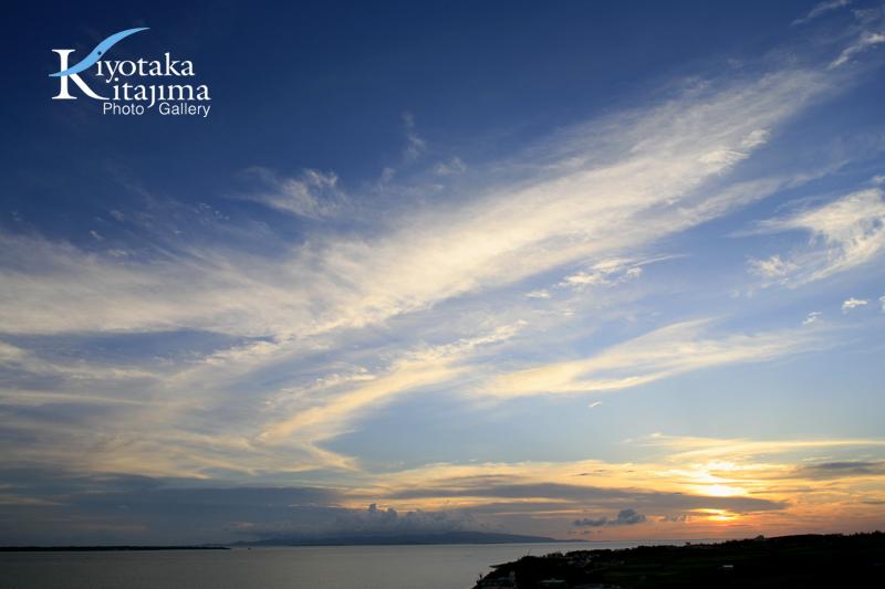 昨日の夕日in石垣島