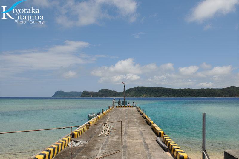 日本でいちばん美しい場所にある桟橋