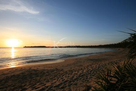 月ヶ浜の夕日