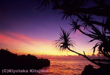 池間島:池間の夕景