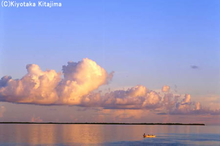 003小浜島:オレンジの雲